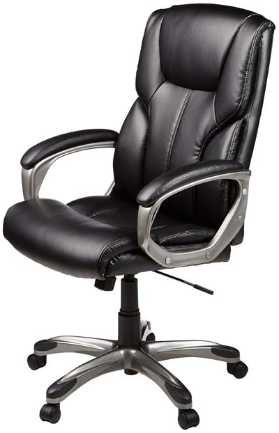 best office chair for lower back pain - AmazonBasics High-Back Executive Chair