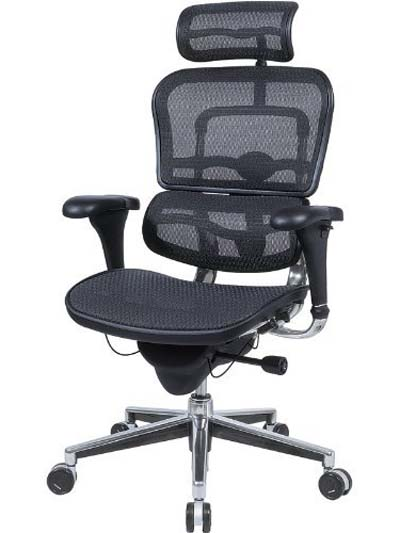 best office chair for lower back pain - Ergohuman Black Mesh Hi-Swivel Chair