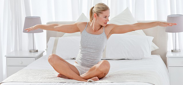 Sciatic Nerve Stretches - bed stretch