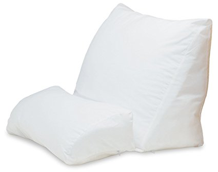 Back Support Pillows for Bed - Contour Products 10-in-1 Flip Pillow