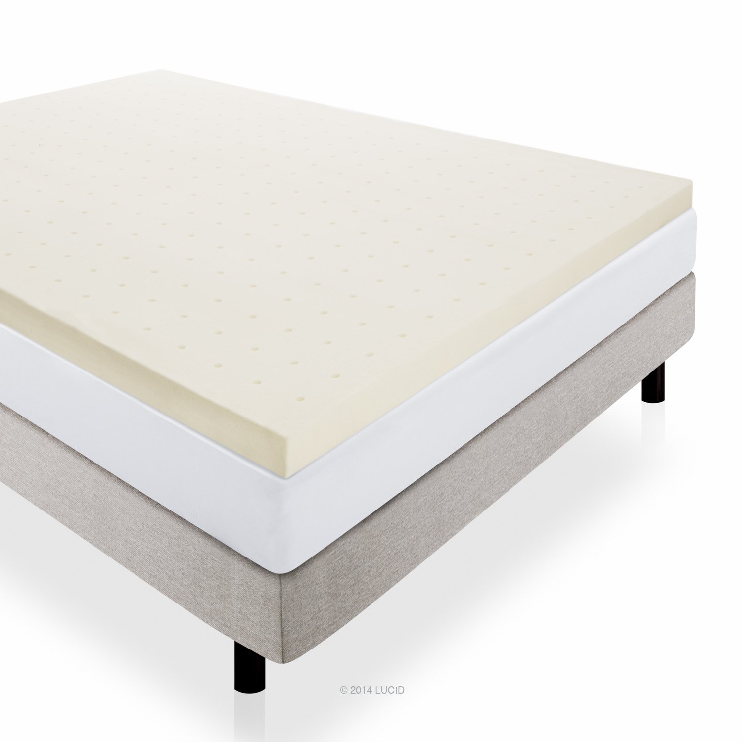 Best Mattress Toppers for Back Pain - LUCID 3-Inch Ventilated Memory Foam
