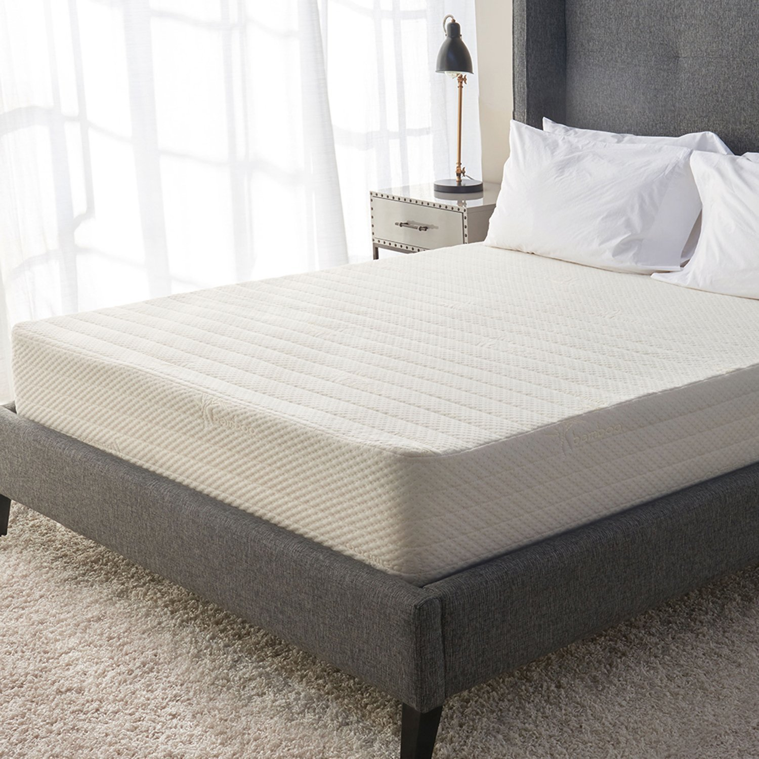 Best Mattress for Side Sleepers with Back pain - Bamboo Gel 11 Mattress by Brentwood Home