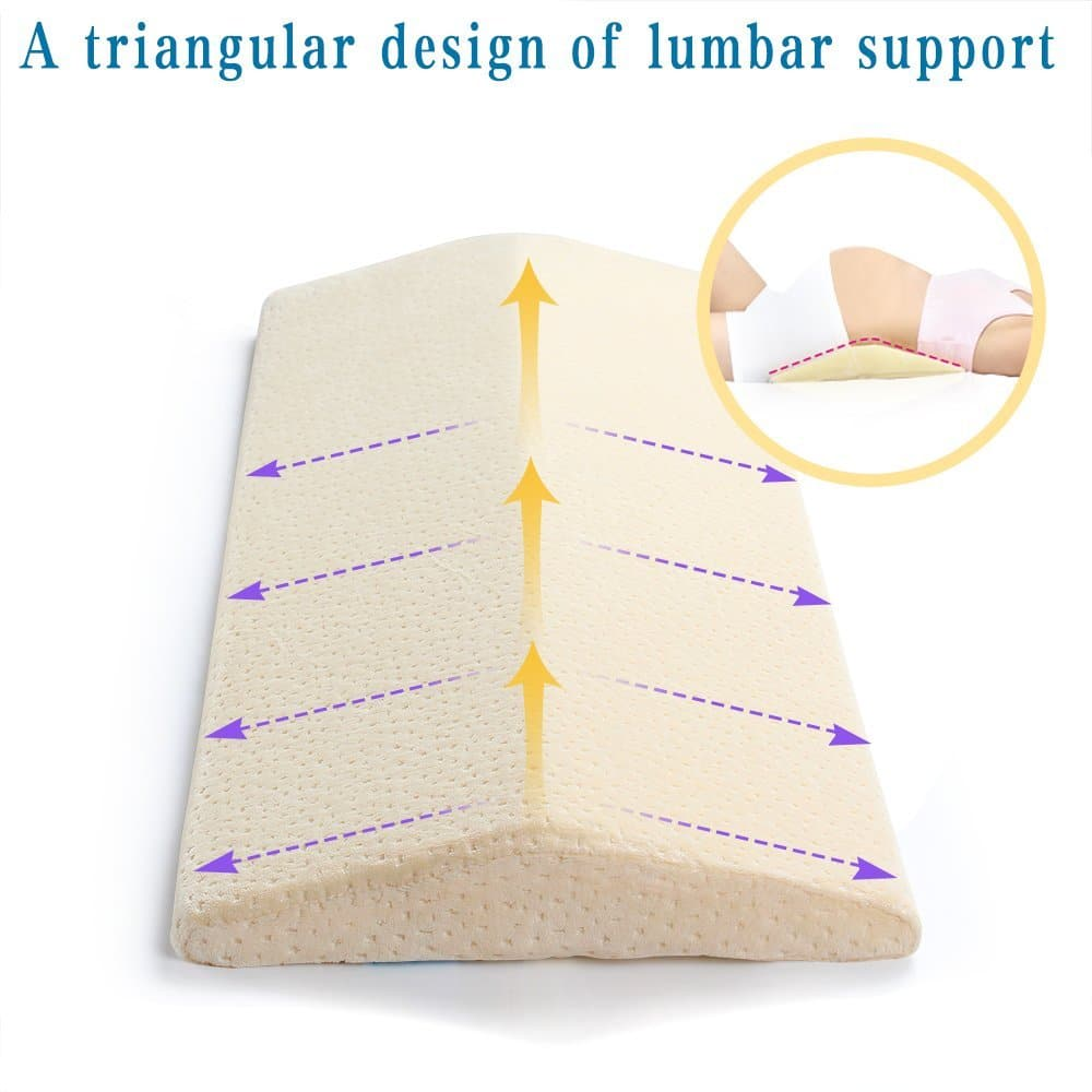 lumbar support pillow - Long Sleeping Pillow for Back Pain