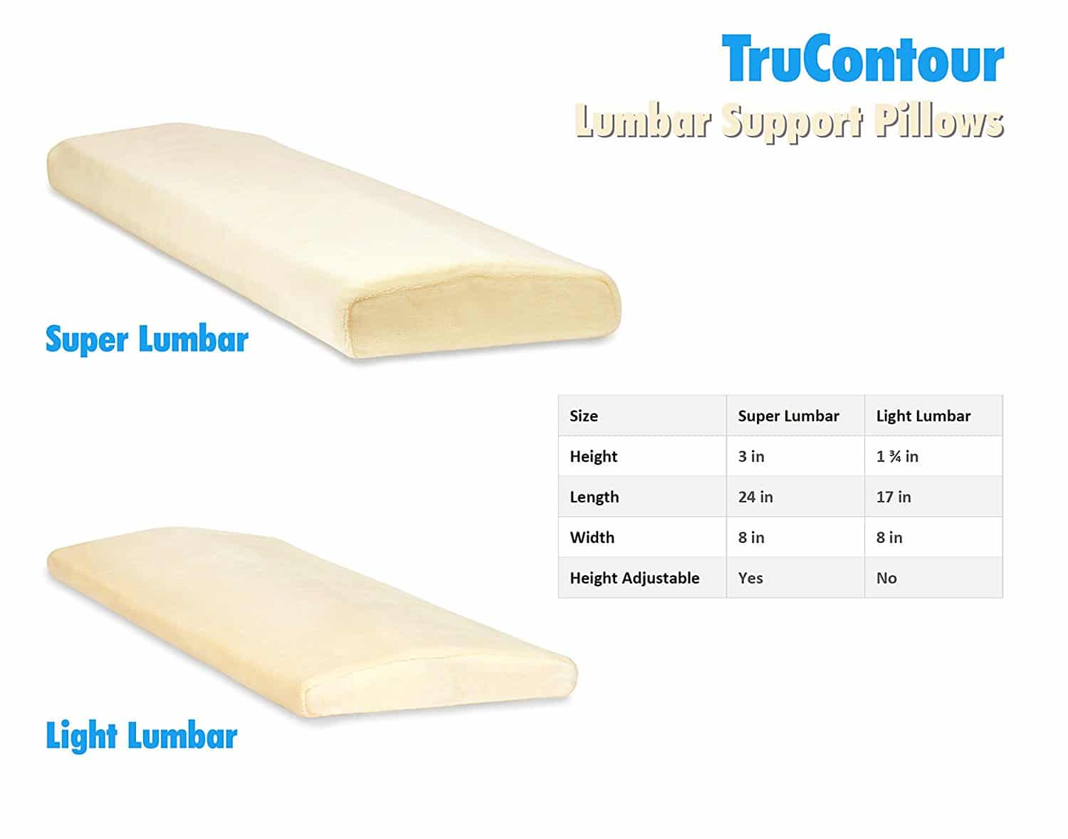 lumbar support pillow - Lumbar Support Pillow for Back Pain