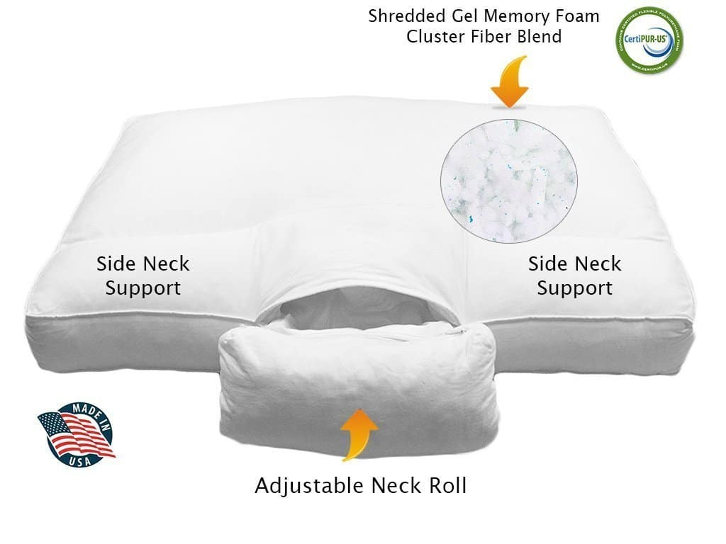 pillow for neck pain - Cervical Orthopedic FULLY Adjustable Neck Support