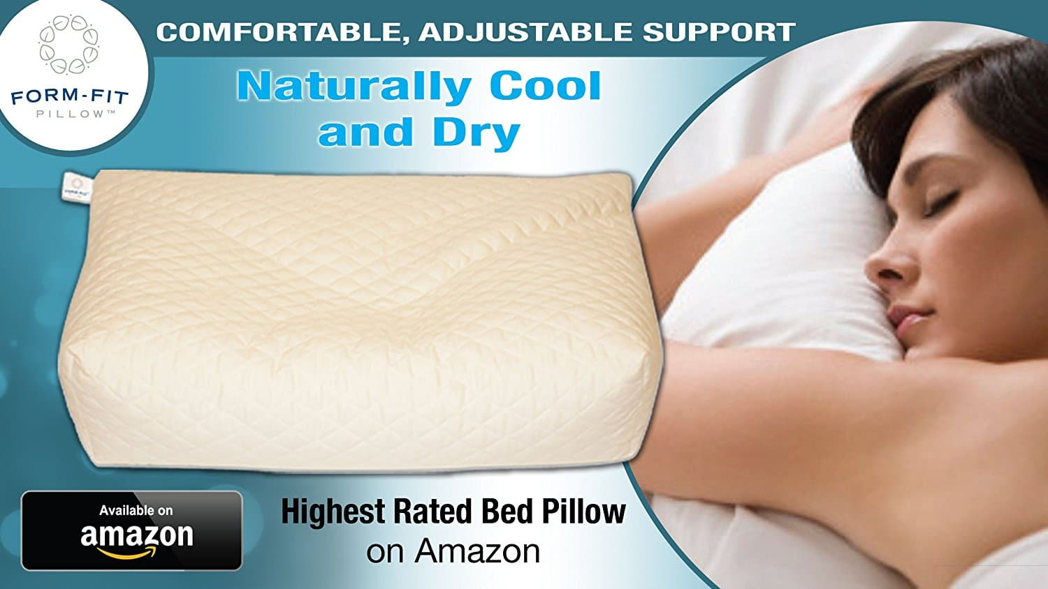 stomach sleeper pillow - Cool & Natural Form-Fit Pillow--Quilted Bamboo Shell