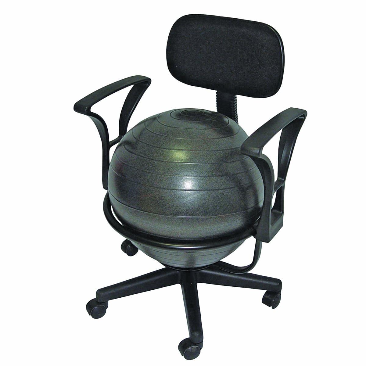 Yoga ball chair - CanDo Metal Ball Chair