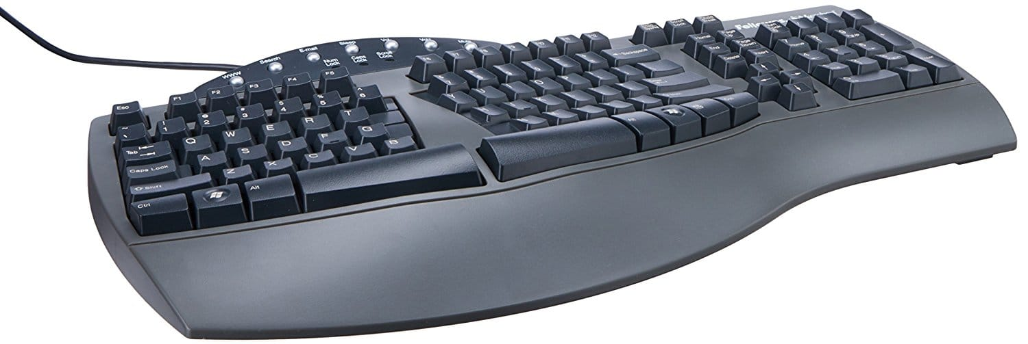 ergonomic keyboard - Fellowes Microban Split Design Wired Keyboard