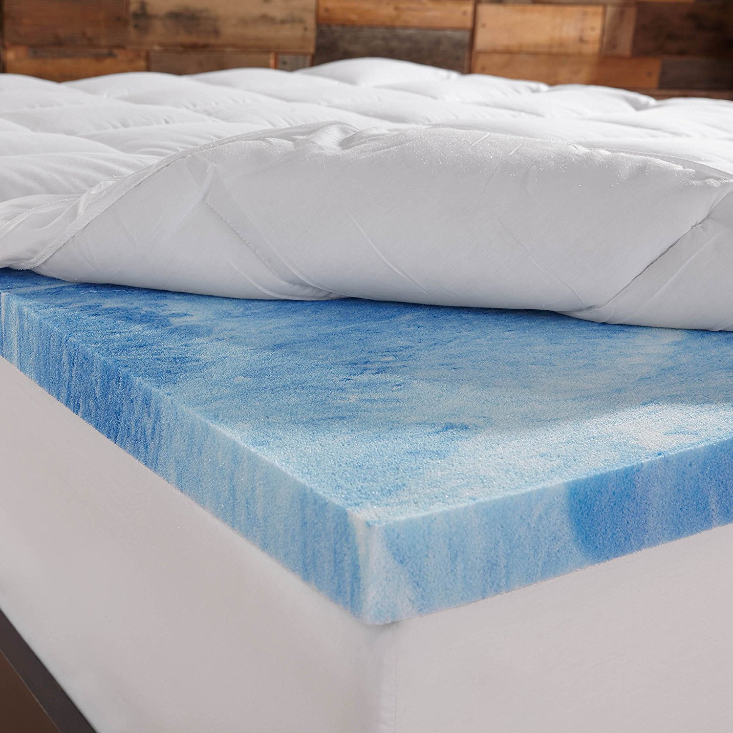 memory foam mattress topper - Sleep Innovations 4-Inch Dual Layer Mattress Topper