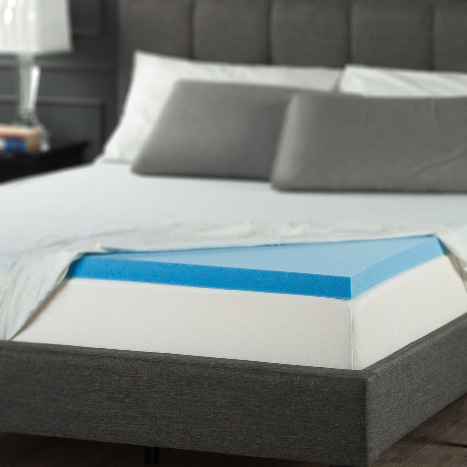 memory foam mattress topper - Zinus Sleep Master Gel Memory Foam 2 Inch Topper